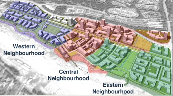 Anticipated layout of the completed development